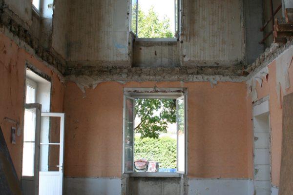 vue intérieure après démolition